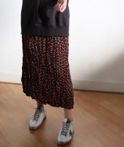 <br> Wrinkle Hopi Banding Skirt <br> [Not returned or exchanged;
