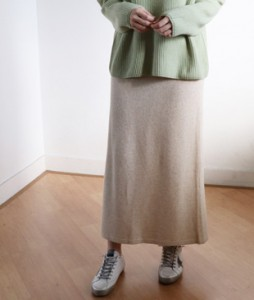 <br> High Cashmere Long Knit Skirt <br> [Not returned or exchanged;
