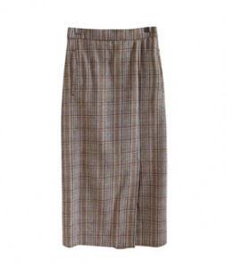 <br> Blue key point Check Banding Skirt <br><br>