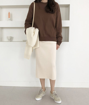 <br> Pemini Corrugated Knit Skirt <br> [Not returned or exchanged;