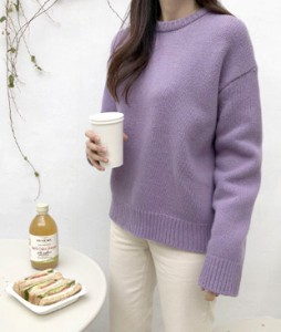 <br> Aromi Round Wool Knit <br> [Not returned or exchanged;