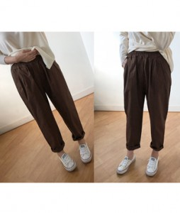 <br> Rectangular Square Banding Pants <br> [Not returned or exchanged;