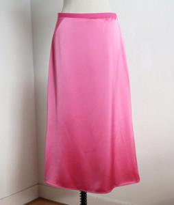 <br> Satin Aline Long Skirt <br> [Not returned or exchanged;