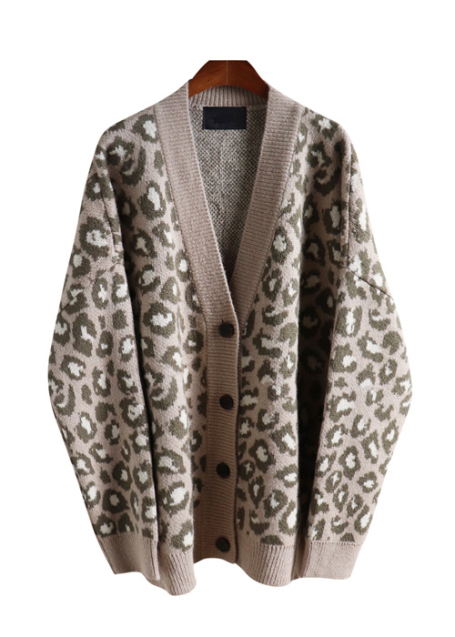 <br> Delicate Leopard mohair Cardigan <br> [Not returned or exchanged;