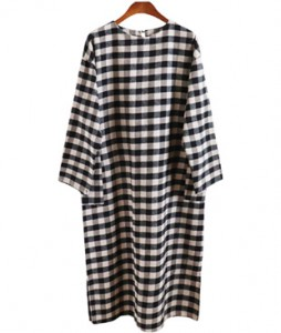 <br> Warm Breast Check Pocket Dress <br><br>
