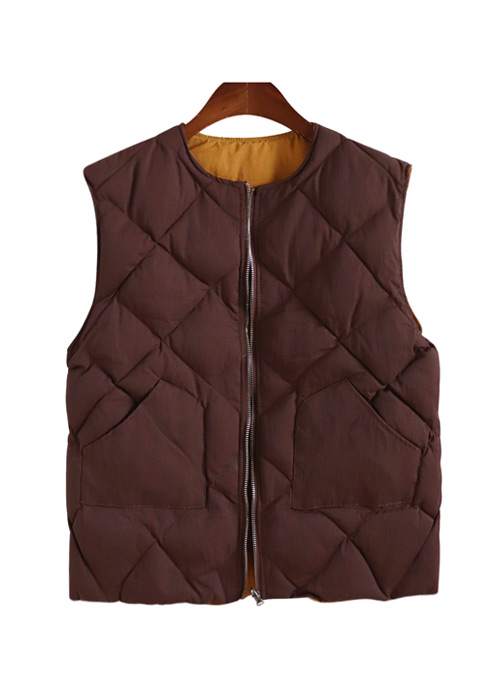 <br> Reversible quilting Padding Vest <br> [Not returned or exchanged;