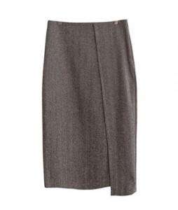 <br> Like Herringbone Diagonal Skirt <br><br>
