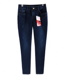 <br> Dot Brushed Semi-Blue Denim Pants <br><br>