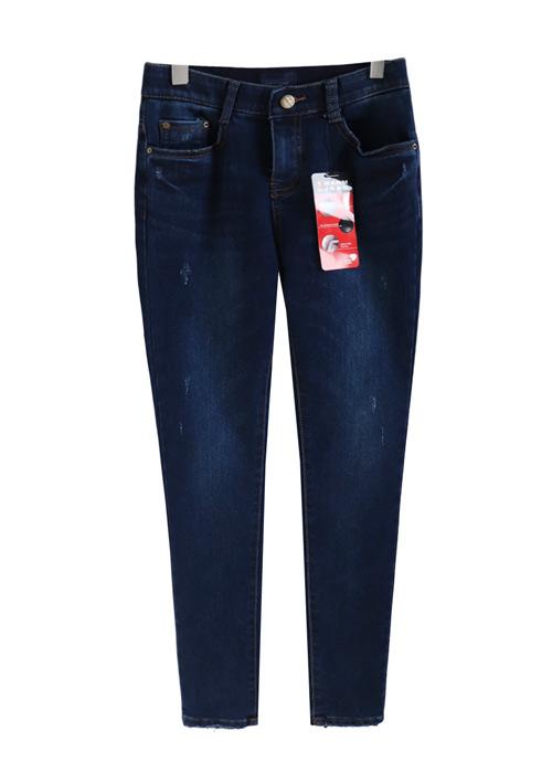 <br> Dot Brushed Semi-Blue Denim Pants <br><br>