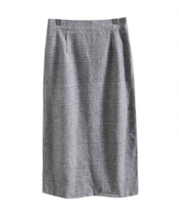 <br> Calm Check Bending Skirt <br><br>