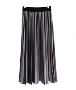 <br> Velvet Banding Pleats Skirt <br> <b><font color=#253952>Skirt third place goods</font></b>