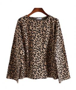 <br> Leopard Round Tee <br><br>