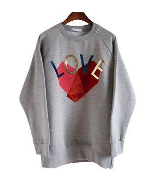 <br> Love patch quilting Tee <br><br>