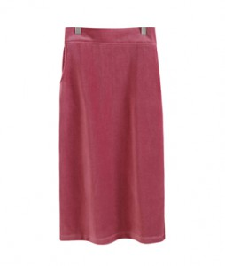 <br> Side Slit Corduroy Skirt <br><br>