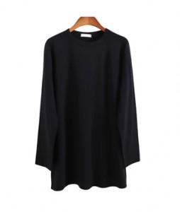 <br> Soft napping Long Tee covering the heap <br> <b><font color=#253952>TOP 4th item</font></b>
