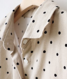 <br> Peach Dot Kara Shirt Dress <br><br>