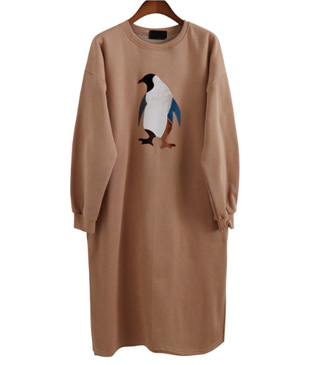 <br> Penguin slit napping Dress <br> [restock]