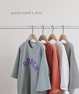 <br> Sleek Peach Short-sleeve Tee <br> <b><font color=#253952>TOP 2 items</font></b>