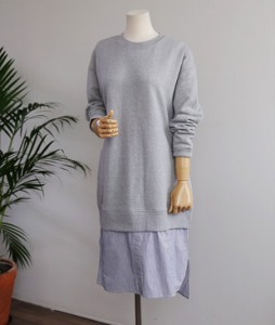<br> Shirt layered quilted dress <br> <b><font color=#253952>Dress 4th item</font></b>