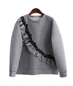<br> Flower Embroidery Freel Neo Man to man Tee <br><br>