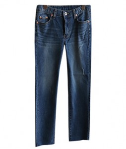 <br> Denny Straight Crop Denim Pants <br><br>