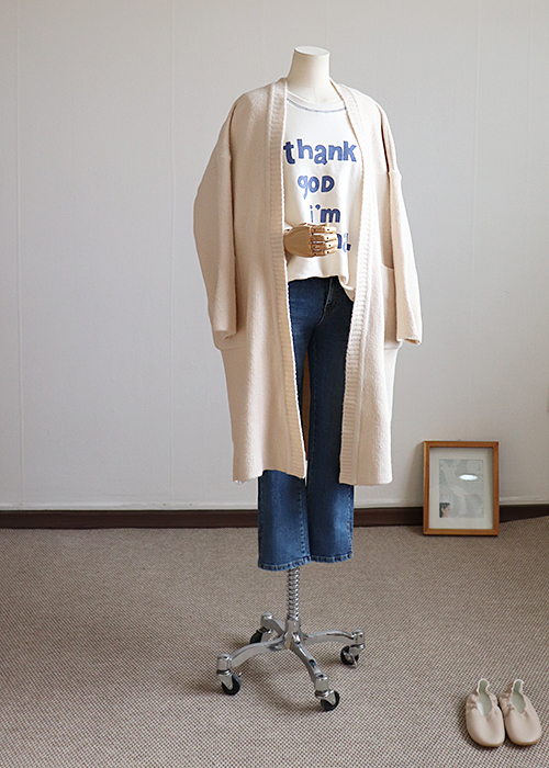 <br> A cozy open-front Long Cardigan <br><br>