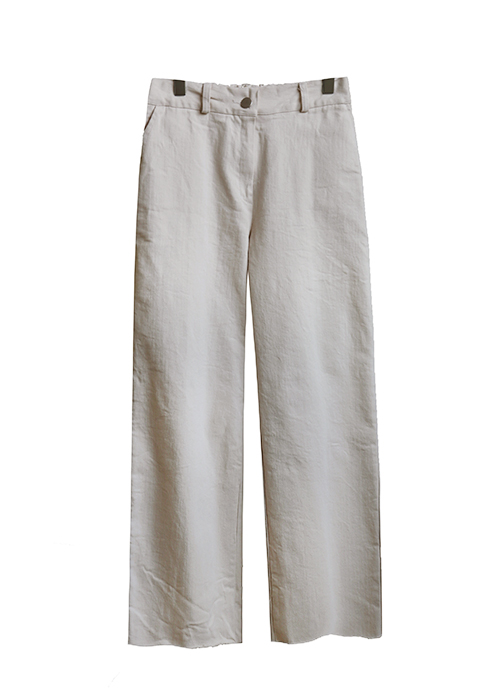 <br> Natural Cutting Straight Cotton Pants <br> - Not returned or exchanged;
