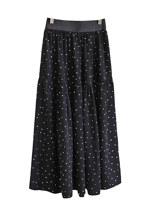 <br> Plan Dot Shearing Banding Skirt <br> <b><font color=#253952>2nd item in skirt</font></b>