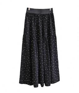 <br> Plan Dot Shearing Banding Skirt <br> <b><font color=#253952>2nd item in skirt</font></b>