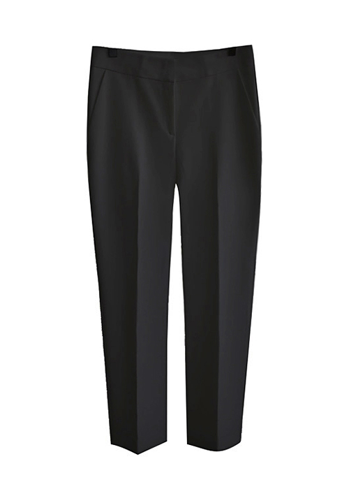 <br> Semi-slit hem Slacks <br> - Not returned or exchanged;