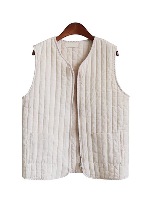 <br> quilting zip Vest <br><br>