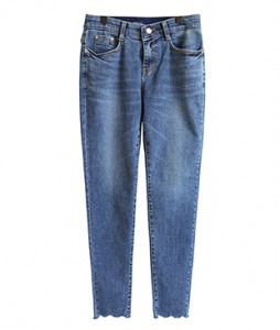 <br> Light blue Cutting Cori Denim Pants <br><br>