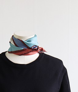 <br> Block color combination scarf <br><br>