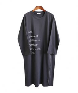 <br> Long Zipper Dress <br><br>
