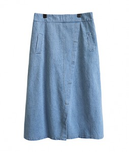 <br> Aline stitch Blue skirt <br> <b><font color=#253952>Skirt third place goods</font></b>