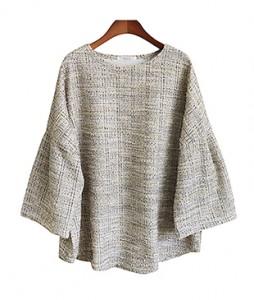 <br> Bell Sleeves Tweed Blouse <br><br>