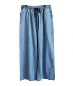 <br> Denim Wide Banding Pants <br> - Not returned or exchanged;