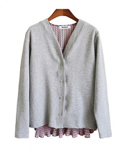 <br> Pleats Prints color combination Cardigan <br><br>