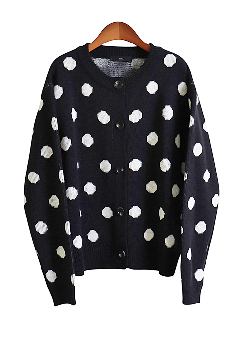 <br> Dot Cardigan <br> - Not returned or exchanged;