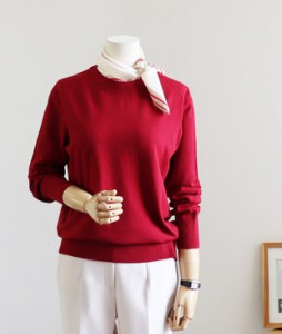 <br> Soft Sleeve Button Knit <br><br>