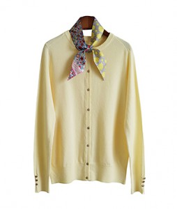 <br> Gold Button Round Cardigan <br><br>