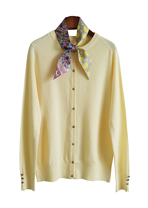 <br> Gold Button Round Cardigan <br> <b><font color=#253952>Knit first place items</font></b>
