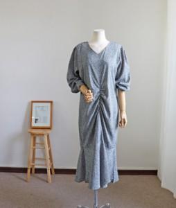 <br> feminine front shirring Dress <br><br>