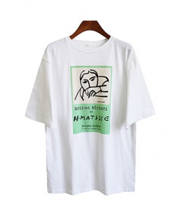<br> Face printing Tee <br><br>