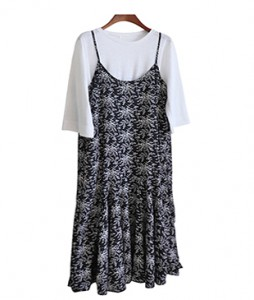 <br> String Adjustable Floral Long Dress <br><br>