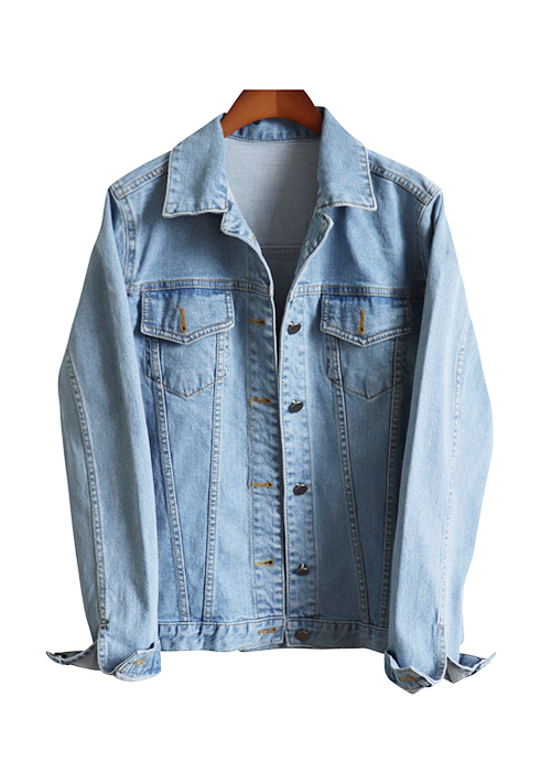 <br> feminine Light blue Jacket <br> [Return can not be exchanged]