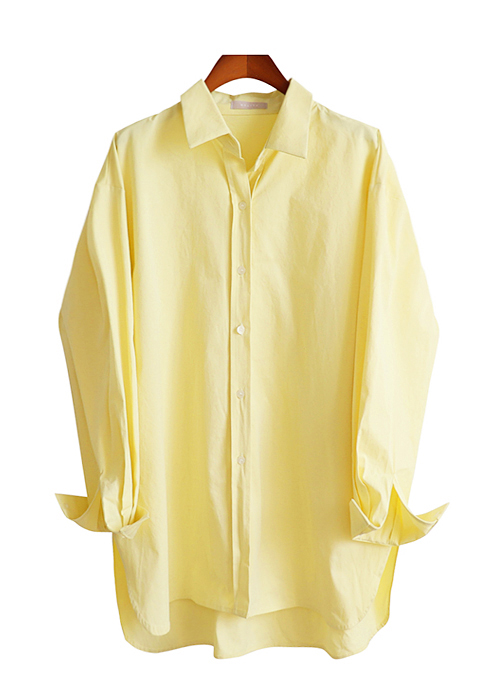 <br> Yellow Incision Long Shirt <br><br>