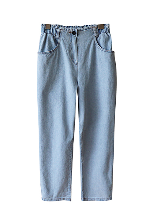 <br> Alan banding Light blue Baggy Pants <br> - Not returned or exchanged;