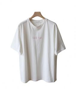 <br> Petite lettering Short-sleeve Tee <br><br>
