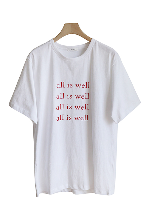 <br> Well-lettering Short-sleeve Tee <br><br>